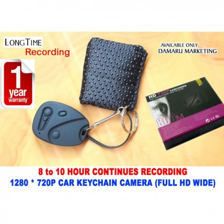 8-10 Hour Long Time Recording FULL HD Car Keychain Camera 720P ( WIDE SCREEN )