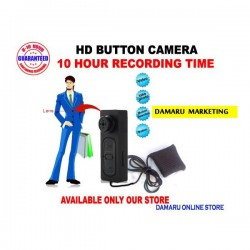 world first 10 hour battery backup small HD button camera with mini purse - web cam long tim