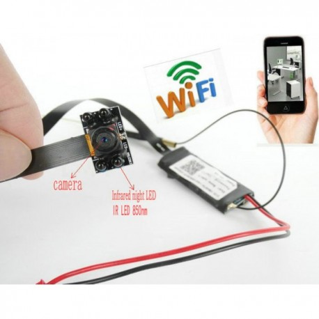 Wireless HD 1080P WiFi Mini IP Camera DIY Module IR Night Vision DVR (World Wide View )